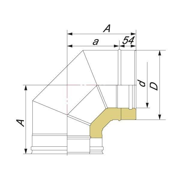 Отвод V50R 90° D160/260, нерж 321/304 (Вулкан)