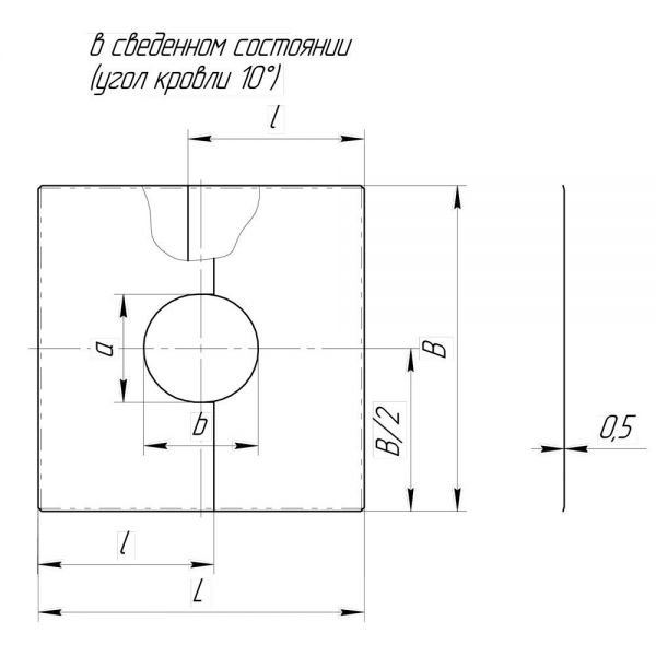 Фланец без изоляции V50R разрезной 0/20º D180/280 (Вулкан)
