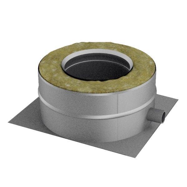 Опора нижняя V50R D180/280 с боковым выпуском конденсата, нерж 321/304 (Вулкан)