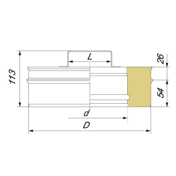 Ревизия V50R D180/280, нерж 321/304 (Вулкан)