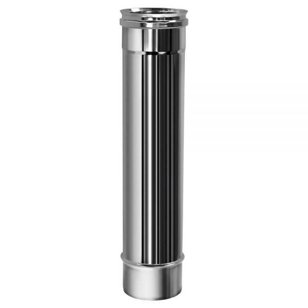 Труба L500 D200 без изоляции, зеркальная (Вулкан)