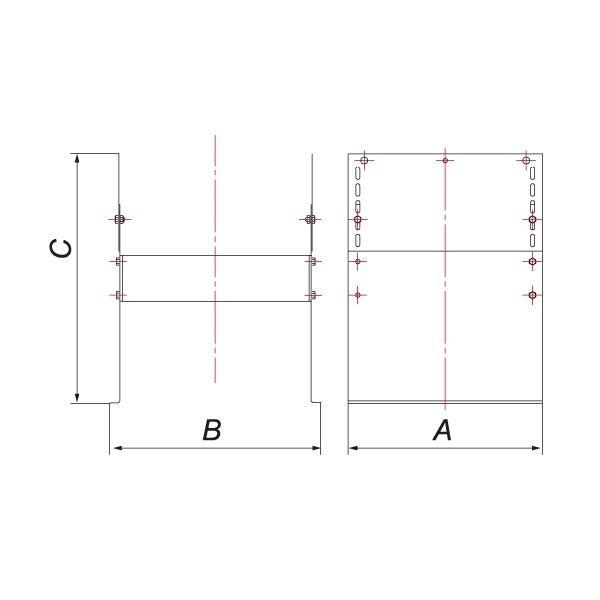 Основание напольное для опоры VR c наруж D400, нерж 304 (Вулкан)