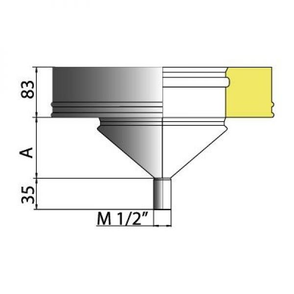 Конденсатосборник DCHн с изол.50мм на трубу D104/200, нерж321/нерж304 (Вулкан)