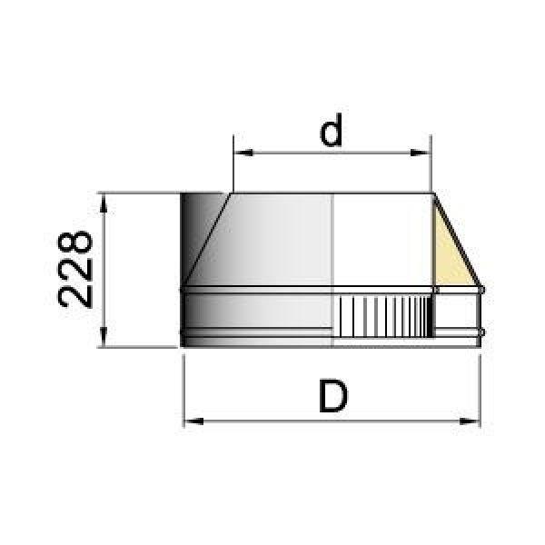Конус DFH на трубу D104 с изол.50мм, нерж321/нерж304 (Вулкан)