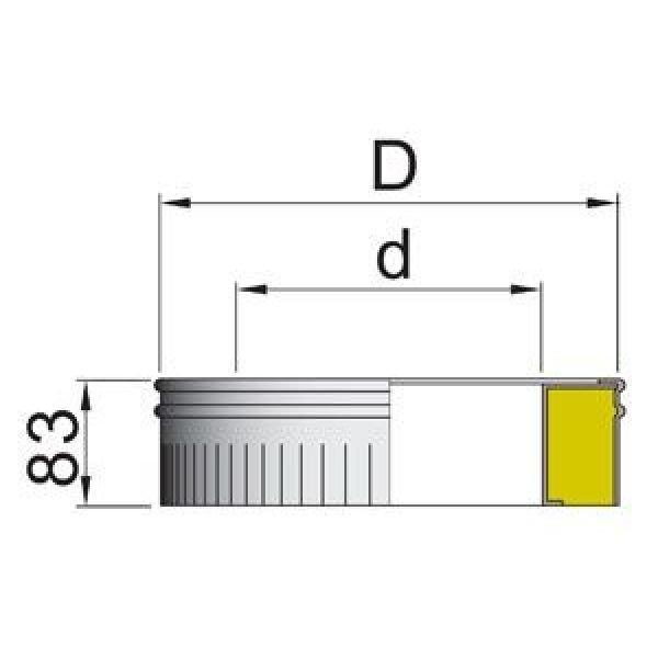 Стакан DSH на трубу D160 с изол.50мм, нерж321/оцинк (Вулкан)