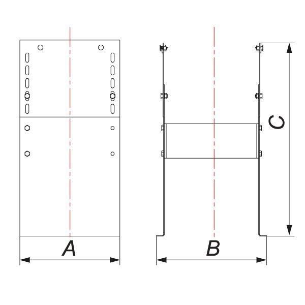 Основание напольное для опоры VHR D104, зеркальное (Вулкан)