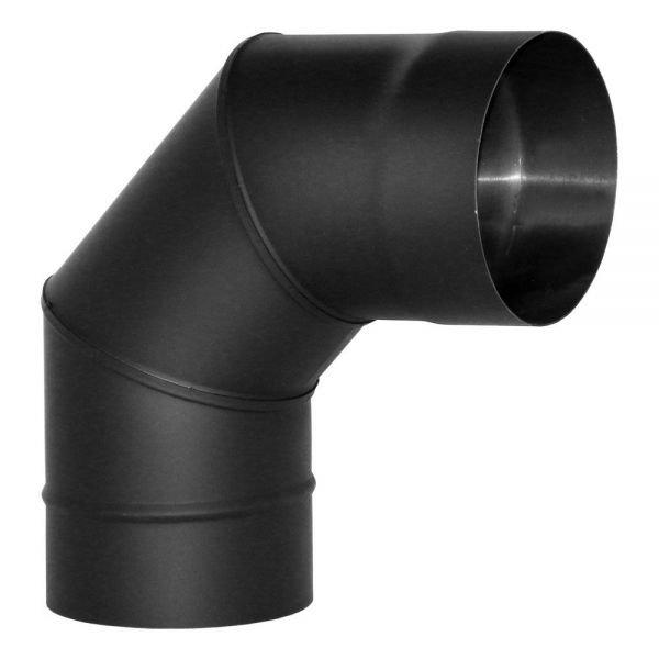 Отвод VBR 90º D115, нерж., черный (Вулкан)