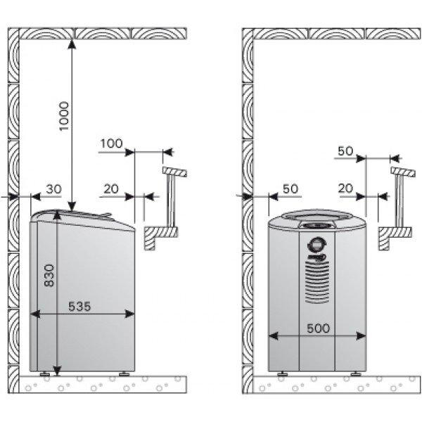 Электрическая печь Harvia Forte AFB6 Steel