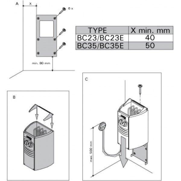 Электрическая печь Harvia Vega Compact BC 23