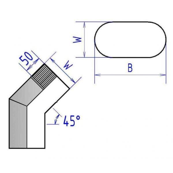 Отвод 45° книжка 4ОТК45