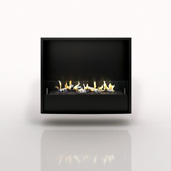 Портальный биокамин Pierre Luxe Темный дуб Белый (Высота 1150) (Firezo)