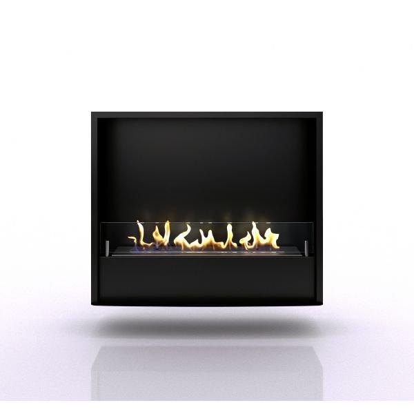 Портальный биокамин Pierre luxe lord Темный дуб белый камень (Firezo)