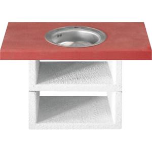 Прямой столик с мойкой (мойка в комплекте) АФИНА