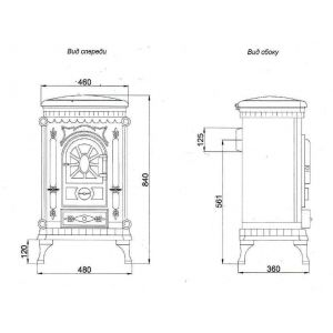 Печь-камин LK AMBRA