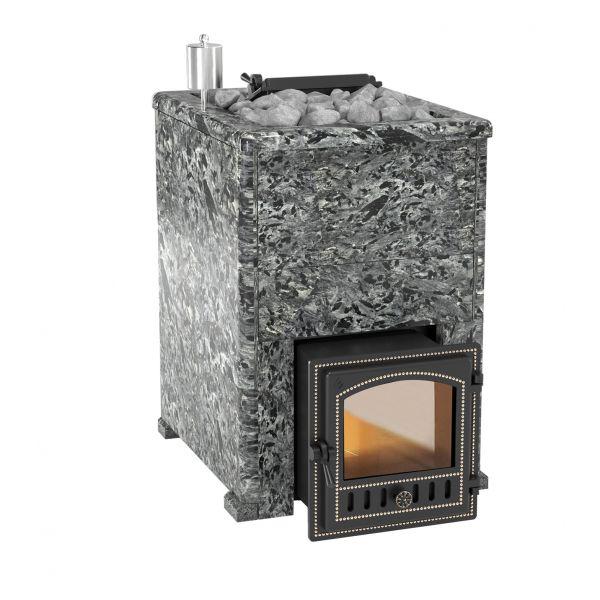 Банная печь Комплект Эверест INOX 20 (280) Пироксенит Элит