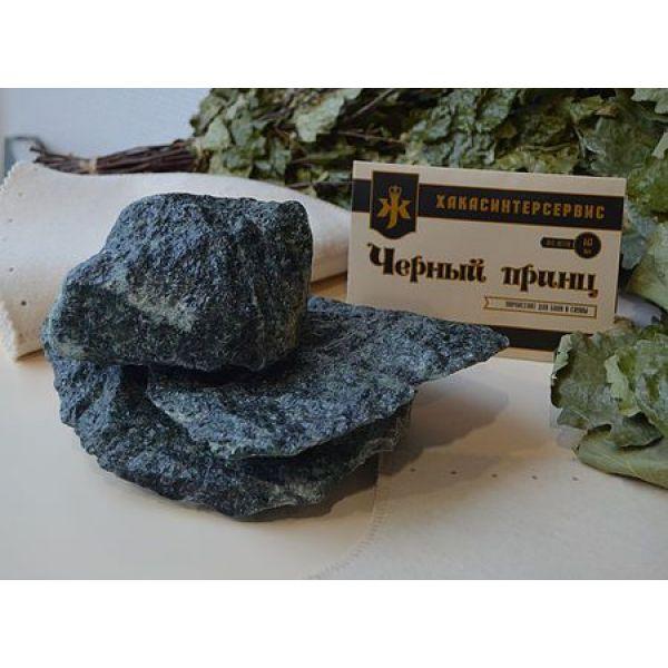 Камни для бани Жадеит Чёрный принц колотый (ведро 18 кг)