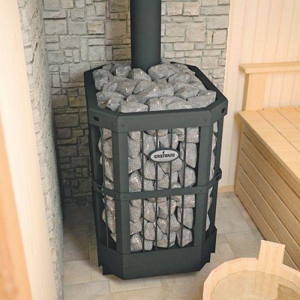 Банная печь GREIVARI КИРАСИР 15 CORBIS Silver