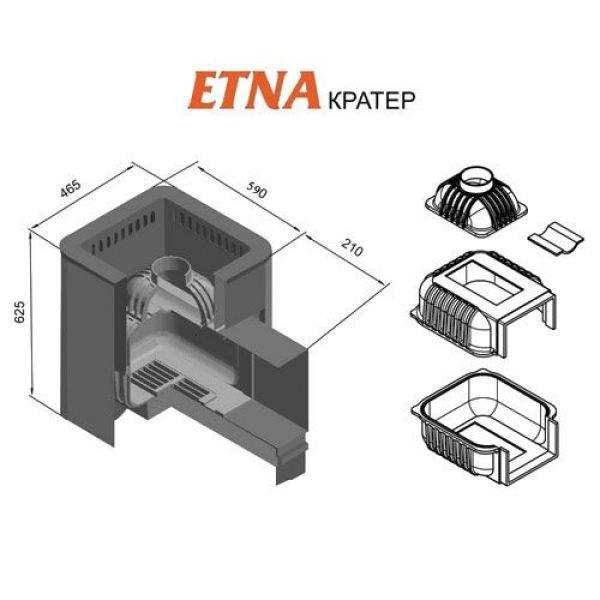 Банная печь ETNA Кратер 24 (Панорама)