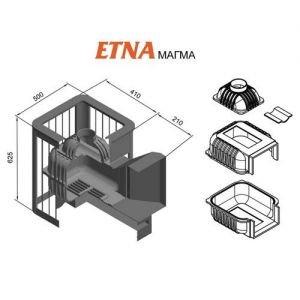 Банная печь ETNA Магма 18 (ДТ-4С)