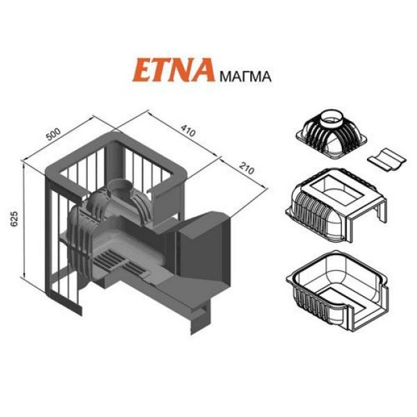 Банная печь ETNA Магма 18 (ДТ-4)