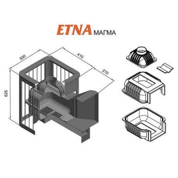 Банная печь ETNA Магма 24 (Панорама)