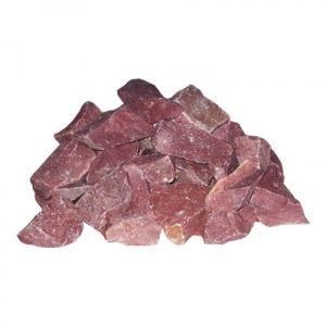 Камни для бани Малиновый кварцит колотый (коробка 20кг)