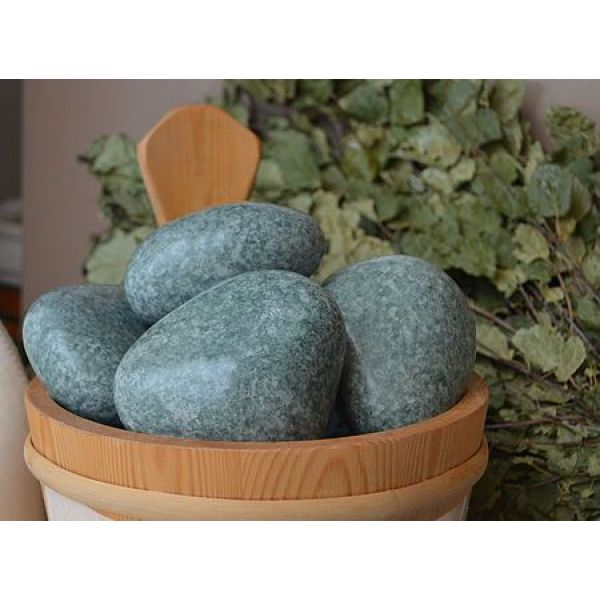 Камни для бани Жадеит шлифованный средний (ведро 20 кг)
