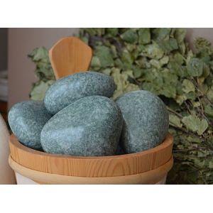 Камни для бани Жадеит шлифованный мелкий (ведро 10 кг)