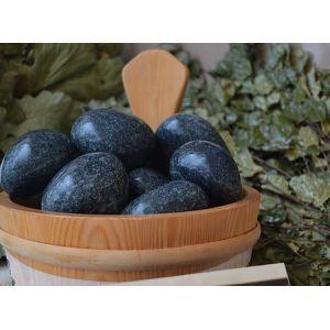 Камни для бани Жадеит Чёрный принц шлифованный (ведро 10 кг)