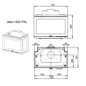 Каминная топка JOTUL I 620 FRL BP чугунная, 12 кВт