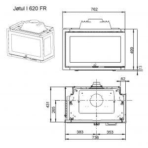JOTUL I 620 FR BP чугунная, 12 кВт