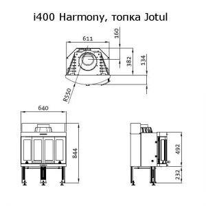 JOTUL I 400 HARMONY BP чугунная, 9 кВт