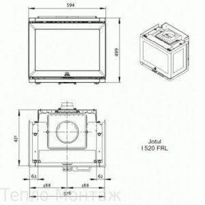 JOTUL I 520 FRL BP чугунная, 10 кВт