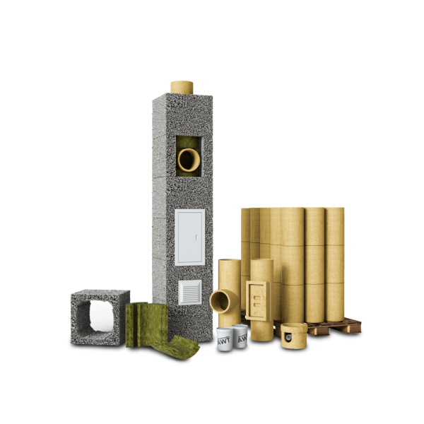 Керамический дымоход AWT D160 (8м)