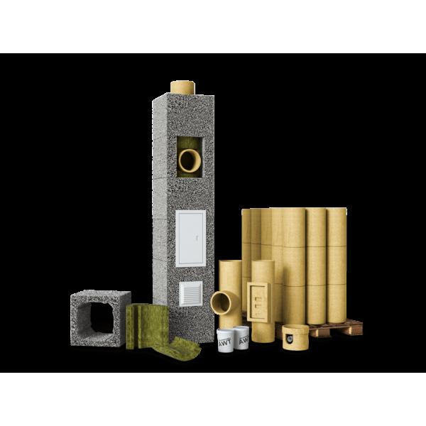 Керамический дымоход AWT D180 (8м)