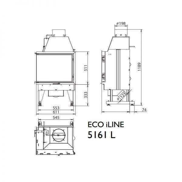 Каминная топка KFD ECO iLINE 5161 L/R