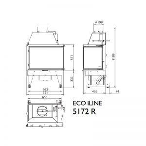 Каминная топка KFD ECO iLINE 5172 L/R