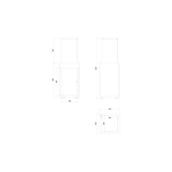 Газовый обогреватель PATIO MINI/M/G31/37MBAR/B - белое стекло, с ручным управлением