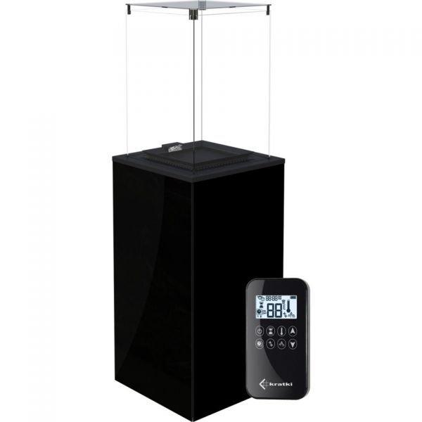 Газовый обогреватель PATIO MINI/G31/37MBAR/CZ - черное стекло, с пультом ДУ