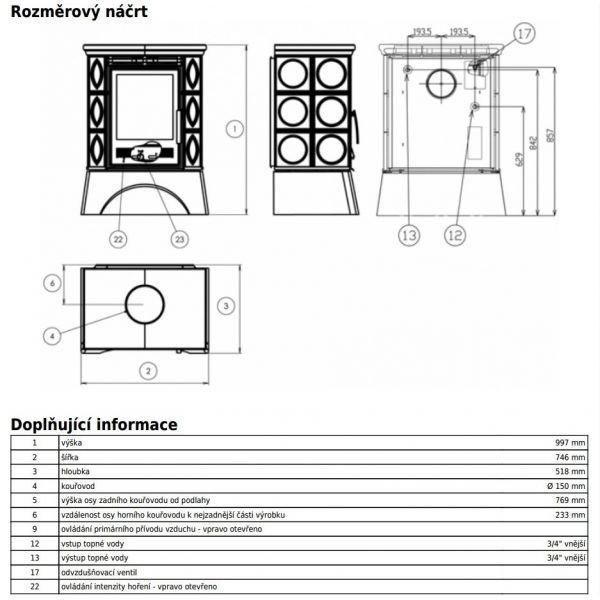 Керамическая печь Helvetia KP, с теплообменником