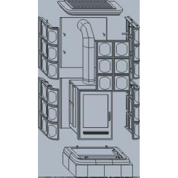 Керамическая печь KALEDONIE K, с теплообменником