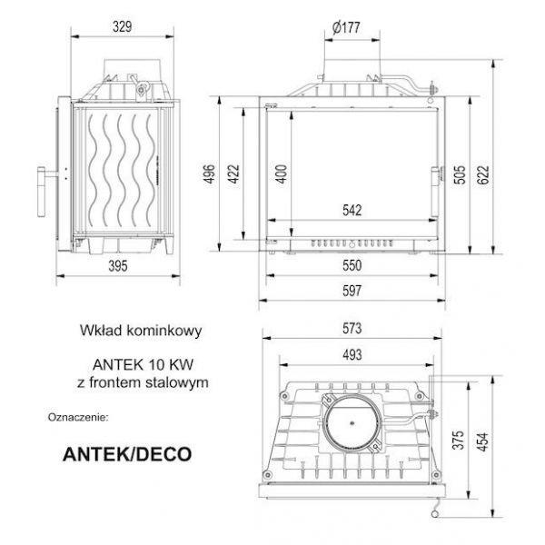 Каминная топка ANTEK/DECO