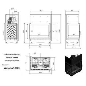 AMELIA/L/BS, Г-образное стекло слева