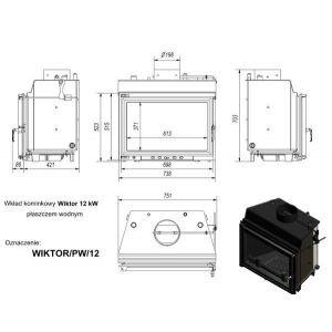 Топка с водяным контуром WIKTOR/PW/12/W