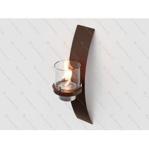 Настенный биокамин Lux Fire Олимпус D (коричневый)