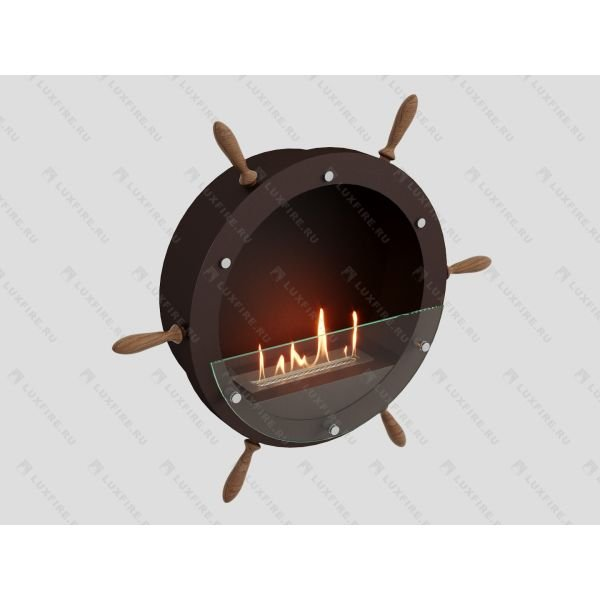 Биокамин Lux Fire Капитан 500 Н XS (коричневый)