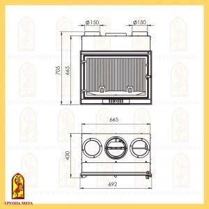 Топка Кожух для распределения горячего воздуха Оптима