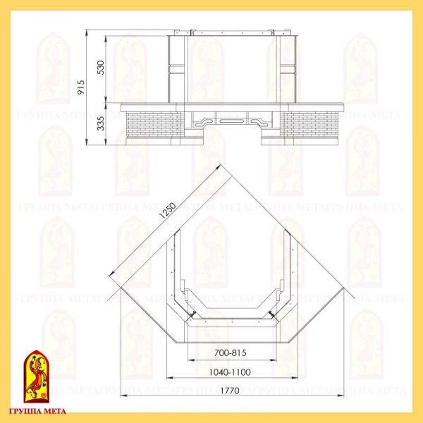 Каминная облицовка Акапелла 700-850