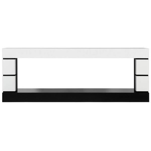 Портал для электрокамина Modern - Белый с черным
