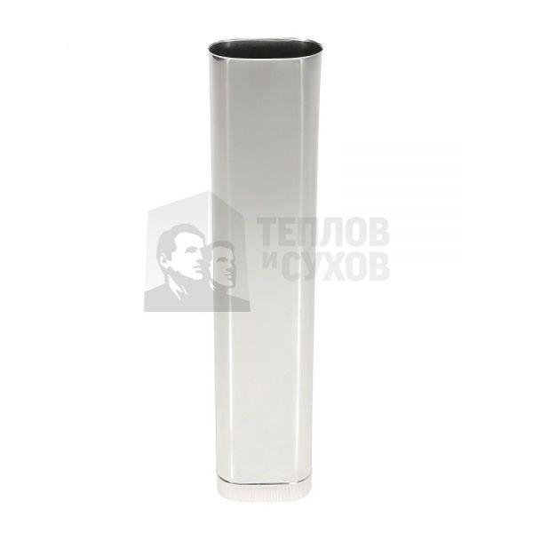 Труба Овал Моно L 1000 100х200. 304. 0,5